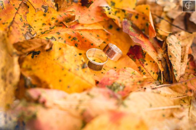 ősz gyűrű esküvő