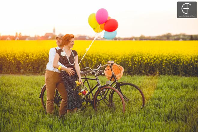 esküvő bicikli fotó